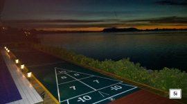 dimensions du terrain de jeu de palets extérieur